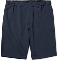 Theory Plymouth Slim Fit Canvas Shorts Navy