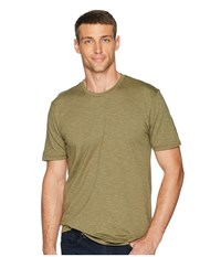 Toadandco Tempo Short Sleeve Slim Crew Rustic Olive Clothing Brown