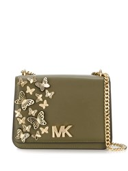 Michael Kors Large Mott Crossbody Bag Green