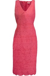 Tory Burch Cameron Embroidered Tulle Dress Bubblegum