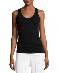 Minnie Rose Scoop Neck Knit Tank Black
