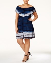 Nanette By Nanette Lepore Plus Size Tie Dyed Off Shoulder Capelet Dress Only At Macy's Moonwash