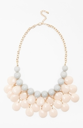 Bp Teardrop Statement Necklace Pink Grey