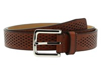 Cole Haan Washington Grand 32Mm Laser Perf Belt Tan Men's Belts