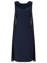 Jacques Vert Drape Cape Dress Navy