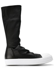 Rick Owens Sock Sneak Boots Men Lamb Skin Leather Rubber 40 Black