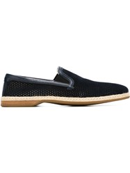 Dolce And Gabbana Perforated Loafers Blue