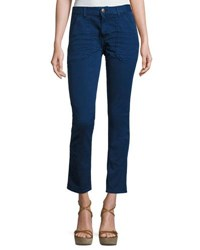 Ba And Sh Sally Cropped Jeans Blue