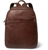 Brunello Cucinelli Textured Leather Backpack Brown