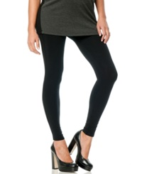 A Pea In The Pod French Terry Skinny Maternity Leggings Black