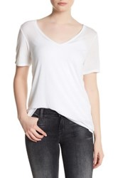 Cupcakes And Cashmere Zuma V Neck Short Sleeve Tee White