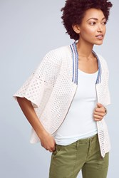 Anthropologie Nora Eyelet Cape White