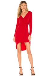 Bcbgeneration Twist Surplice Dress Red