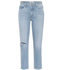 Paige Sarah High Waisted Straight Jeans Blue
