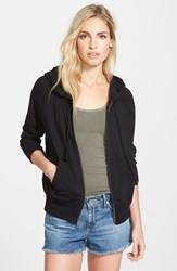James Perse Women's Full Zip Cotton Hoodie