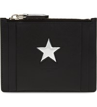 Givenchy Star Zipped Leather Card Holder Black
