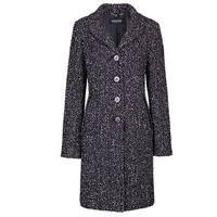 Betty Barclay Tweed Coat Black Cream