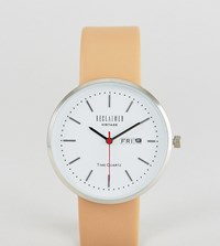 Reclaimed Vintage Inspired Date Leather Watch In Tan Exclusive To Asos