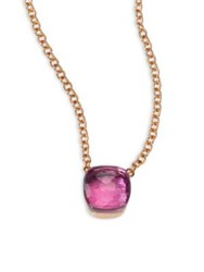 Pomellato Amethyst And 18K Rose Gold Pendant Necklace