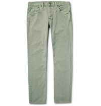 Simon Miller M001 Slim Fit Painted Denim Jeans Green