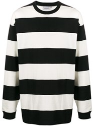 Carhartt Wip Striped Knitted Jumper White