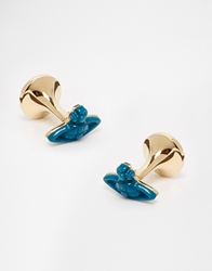 Vivienne Westwood Idris Resin Cufflinks Blue