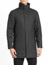 Mackage Damari Wool Flannel Down Car Coat Charcoal