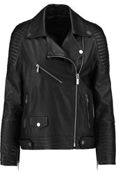 Karl Lagerfeld Renate Leather Biker Jacket Black