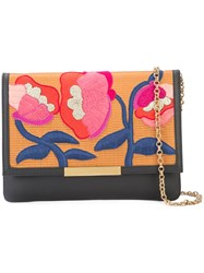 Lizzie Fortunato Jewels Embroidered Flowers Clutch Bag