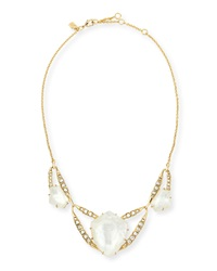 Alexis Bittar Geometric Mother Of Pearl Bib Necklace