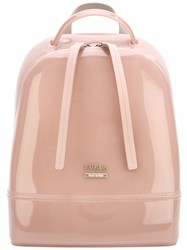 Furla Strap Detail Backpack Women Pvc One Size Pink Purple
