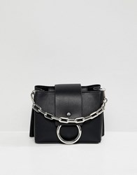 a28ed2ef90a Aldo Ibilasien Black Structured Cross Body Bag With Metal Ring Detail