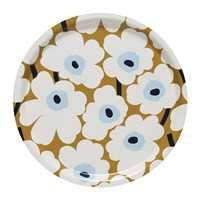 Marimekko Unikko Plywood Tray Mini Beige White Blue