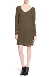 Women's Leith V Neck Sweater Dress Olive Sarma