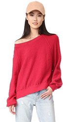 Free People Found My Friend Sweatshirt Red