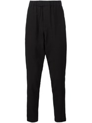 Ann Demeulemeester Grise Drop Crotch Trousers Black