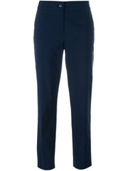 Twin Set Cropped Cigarette Trousers Blue