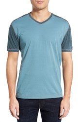 Men's Agave 'Rubicon' V Neck Baseball T Shirt Citadel