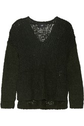 Line Carlyle Open Knit Alpaca Blend Sweater Emerald