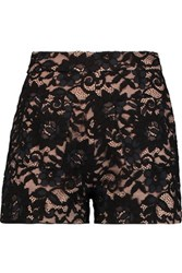 Alexis Dean Cotton Blend Lace Shorts Black
