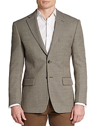 Tailorbyrd Regular Fit Micro Check Wool Blend Sportcoat Neutral