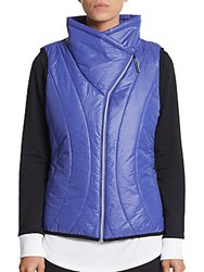 Andrew Marc New York Asymmetrical Quilted Puffer Vest Ultra Violet