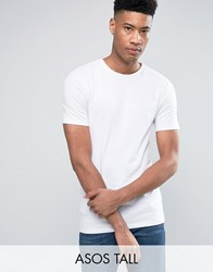 Asos Tall Muscle T Shirt In White White