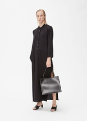 Raquel Allegra Henley Maxi Dress Black