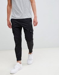 Religion Drop Crotch Cargo Trouser In Black