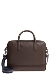 Ted Baker London Lowmee Leather Briefcase Brown Chocolate