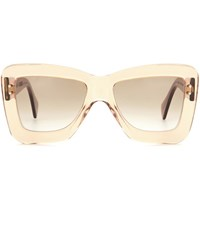 Roksanda Ilincic X Cutler And Gross Square Sunglasses Orange
