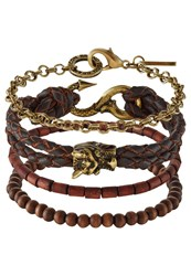 Icon Brand 4 Pack Bracelet Brown