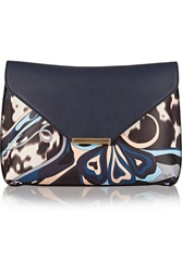Emilio Pucci Printed Leather Clutch