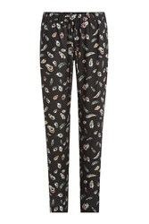 The Kooples Printed Pants Black